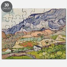 The Alpilles, 1890 (oil on canvas) - Puzzle