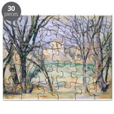 Trees and houses, 1885 86 (oil on canvas) - Puzzle