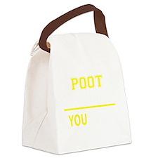 Cute Poot Canvas Lunch Bag