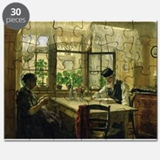 A Peaceful Sunday, 1876 (oil on canvas) - Puzzle