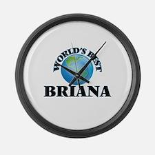 World's Best Briana Large Wall Clock