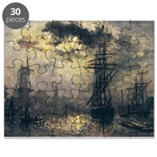 View of the Port, or The Windmills in Rot - Puzzle