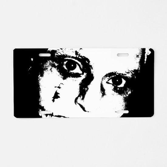 Zombie Face Aluminum License Plate