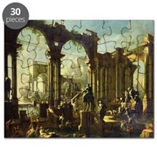 Ruins of the Baths of Caracalla (oil on c - Puzzle