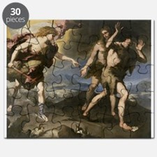 Expulsion from Paradise (oil on canvas) - Puzzle