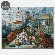 The Chinese Garden, c.1742 (oil on canvas - Puzzle