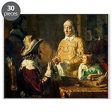 William Harvey (1578-1657) demonstrating - Puzzle