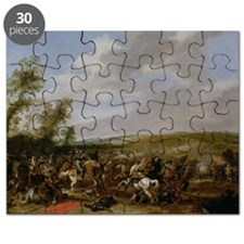 Battle Scene at Lutzen - Puzzle