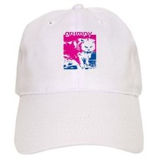 Grumpy Kitty Pink Baseball Cap