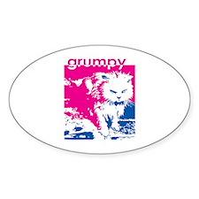 Grumpy Kitty Pink Oval Decal