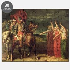 Macbeth and the Three Witches, 1855 (oil - Puzzle