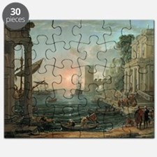 Seaport with the Embarkation of the Queen - Puzzle