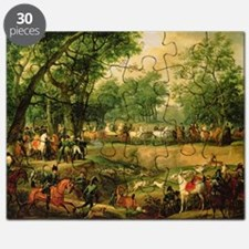 Napoleon on a hunt in the Compiegne Fores - Puzzle