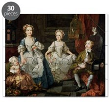 The Graham Children, 1742 (oil on canvas) - Puzzle