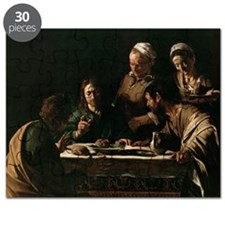 Supper at Emmaus, 1606 (oil on canvas) (s - Puzzle