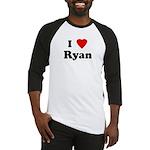I Love Ryan Baseball Jersey