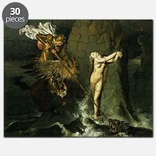 Ruggiero Rescuing Angelica, 1819 (oil on - Puzzle