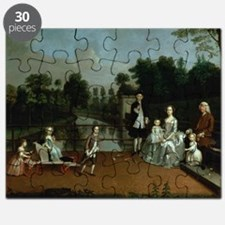 A Family Group on a Terrace in a Garden, - Puzzle