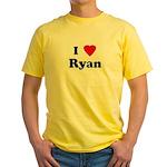 I Love Ryan Yellow T-Shirt