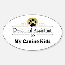 My Canine Kids Sticker (Oval)