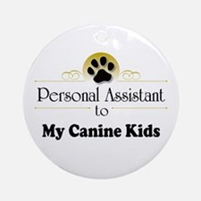My Canine Kids Ornament (Round)