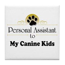 My Canine Kids Tile Coaster