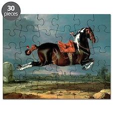 The piebald horse 'Cehero' rearing - Puzzle