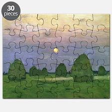 Hayricks at Dusk, 1899 - Puzzle