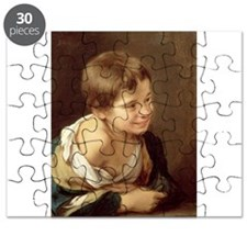 A Peasant Boy Leaning on a Sill, 1670-80 - Puzzle