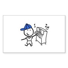 Boy & Piano Rectangle Decal