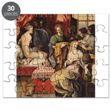 Hyante and Climene at their Toilet (oil o - Puzzle