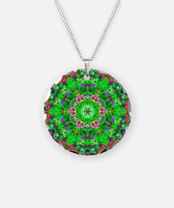 Green Floral Pattern Necklace