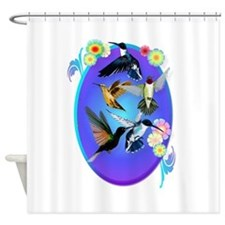 For The Love Of Hummingbirds Shower Curtain
