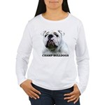 BULLDOG SMILES Women's Long Sleeve T-Shirt