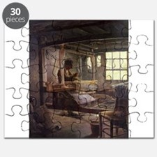 The Breton Weaver, 1888 (oil on canvas) - Puzzle
