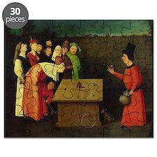 The Conjuror (oil on panel) (pre-restorat - Puzzle