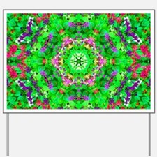 Green Floral Pattern Yard Sign