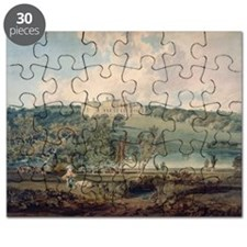 Harewood House from the South (w/c on pap - Puzzle