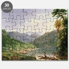 Kentucky River, Near Dic River (oil on bo - Puzzle