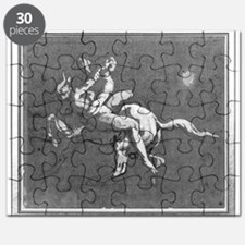 Centaur kidnapping a nymph (pen - Puzzle