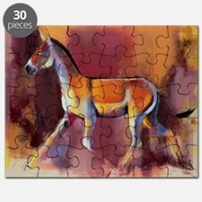 Wild Ass, Rann of Kutch, 1996 (oil on can - Puzzle