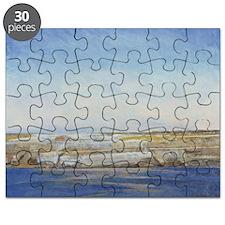 Coastline, Gozo (oil on canvas) - Puzzle