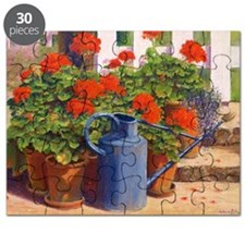 The blue watering can, 1995 (pastel on pa - Puzzle