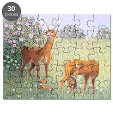 Deer Family (oil on canvas) - Puzzle