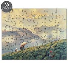 Tea Picking, Darjeeling, India, 1999 (oil - Puzzle