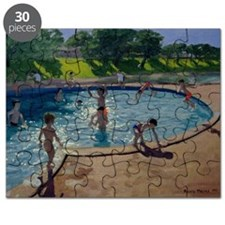 Swimming Pool, 1999 (oil on canvas) - Puzzle