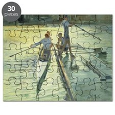 Sunset Raft (oil on canvas) - Puzzle