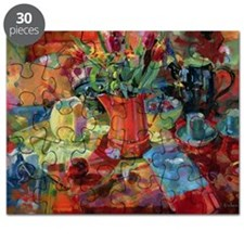 Sienna Bouquet (oil on canvas) - Puzzle