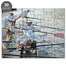 Securing Oars, Henley (oil on canvas) - Puzzle