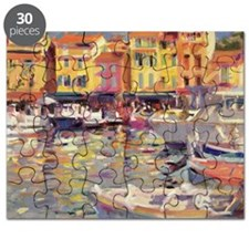 Harbour at Cassis (oil on canvas) - Puzzle